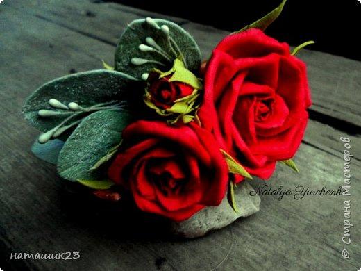 Роза Глория с листьями цинерарии, выкройки цинерарии с живых листочков(резинка) фото 6