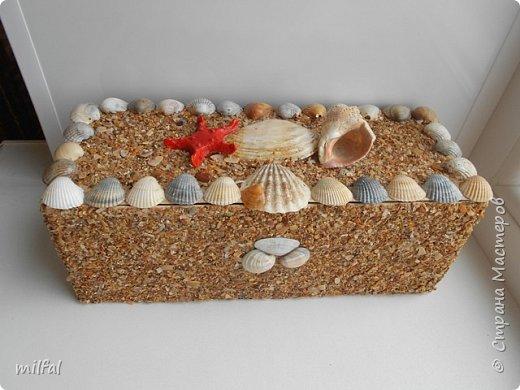 Обожаю морскую тему,....После отдыха с чёрного моря привезла ракушки и морской песок в очередной раз,родились вот такие шкатулочки.Я думаю,актуальная тема в разгар лета. Покажу в полном объёме. фото 13