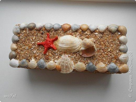 Обожаю морскую тему,....После отдыха с чёрного моря привезла ракушки и морской песок в очередной раз,родились вот такие шкатулочки.Я думаю,актуальная тема в разгар лета. Покажу в полном объёме. фото 14