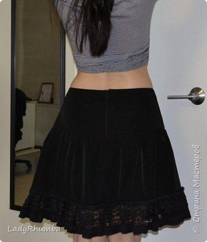 Всем привет!  Вот, из остатков ткани и отрезанной от старой юбки оборки, сшила себе юбчонку.  фото 1