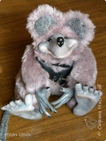 Знакомьтесь - крыс по имени Пасюк! :) Моя первая игрушка, выполненная в смешанной технике - голова и лапы из полимерной глины, туловище из искусственного меха. фото 37