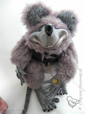 Знакомьтесь - крыс по имени Пасюк! :) Моя первая игрушка, выполненная в смешанной технике - голова и лапы из полимерной глины, туловище из искусственного меха. фото 17