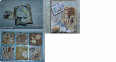 Подошла к концу наша игра, все получили свои подарочки!!! Спасибо всем за игру!!! P.S. Здесь выложены общие фото работ тех, кто прислал мне общее фото работ на почту... фото 14