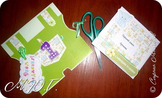 Вот такой наборчик создала вчера маленькому Артемчику на годовасие) Ножнички куплю новые,для фото свои украсила) фото 1