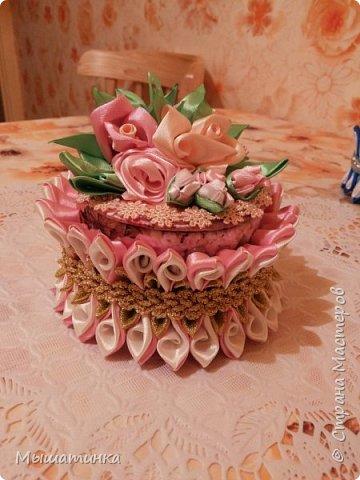 Третья моя болезнь - канзаши и все что с эти связано - готовилась к выпускному из сада дочери - сделала в подарок воспитателям фото 3