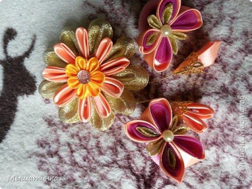 Третья моя болезнь - канзаши и все что с эти связано - готовилась к выпускному из сада дочери - сделала в подарок воспитателям фото 11