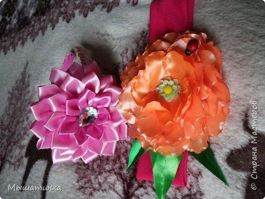 Третья моя болезнь - канзаши и все что с эти связано - готовилась к выпускному из сада дочери - сделала в подарок воспитателям фото 14