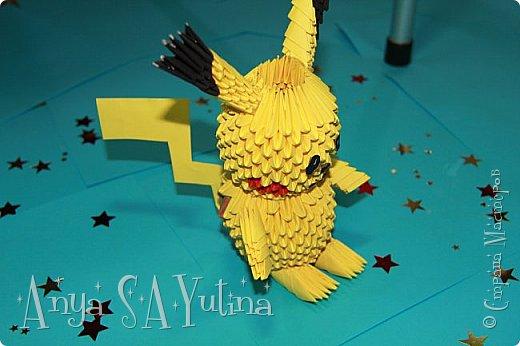 Здравствуйте) Сейчас я вам расскажу и покажу, как делать этого пикачу техникой модульное оригами. Чтобы посмотреть урок, спуститесь чуть ниже по странице:) фото 2