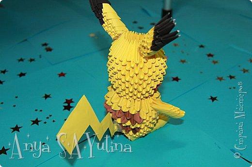 Здравствуйте) Сейчас я вам расскажу и покажу, как делать этого пикачу техникой модульное оригами. Чтобы посмотреть урок, спуститесь чуть ниже по странице:) фото 3