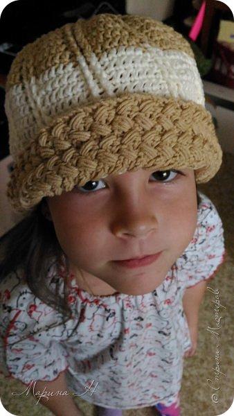 Сыну связана шапочку, решила и дочку не обижать. Вот что получилось. фото 2