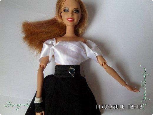 """привет!сегодня я сдаю работу на конкурс """"Мисс Кукольная Жизнь"""" http://stranamasterov.ru/node/1046432 И  меня черно-белый костюм: фото 24"""
