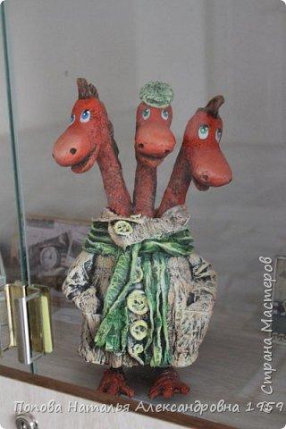 Прошла отчетная выставка в ДДТг. Чебоксары Ч. Р. Мои чудесные фигурки из папье- маше эффектно украсили нашу выставку.                          фото 5