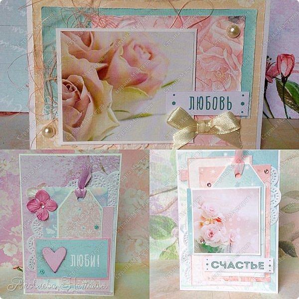 """Сотворились у меня простенькие открыточки, которые я назвала """"открыточками для настроения"""". Меня попросили сделать именно простенькие, но чтобы их можно было подарить любимому человеку без повода, для поднятия или поддержания хорошего настроения  фото 11"""