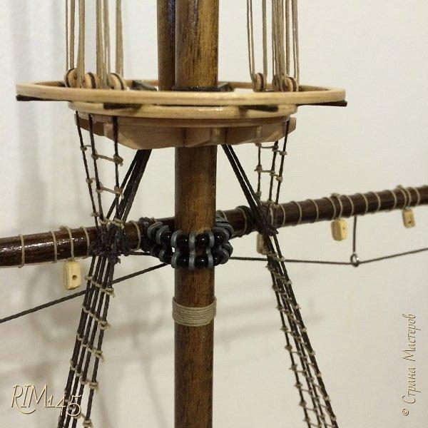 Средняя часть корпуса галеона XVII века с внутренним убранством как дополнение к модели парусного корабля «Сан Джовани Батиста» (св. Иоанн Креститель) от DeAgostini в серии журналов «Великие парусники» за 2010-2012 гг. Высота 66,4 см, ширина 16 см, длина 12 см. фото 26
