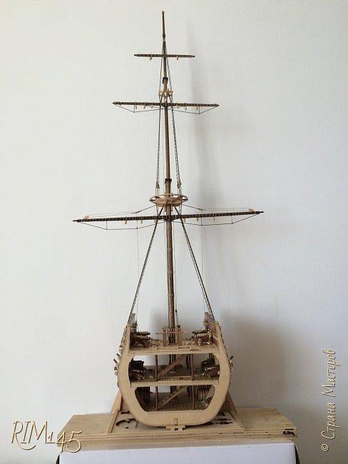 Средняя часть корпуса галеона XVII века с внутренним убранством как дополнение к модели парусного корабля «Сан Джовани Батиста» (св. Иоанн Креститель) от DeAgostini в серии журналов «Великие парусники» за 2010-2012 гг. Высота 66,4 см, ширина 16 см, длина 12 см. фото 27