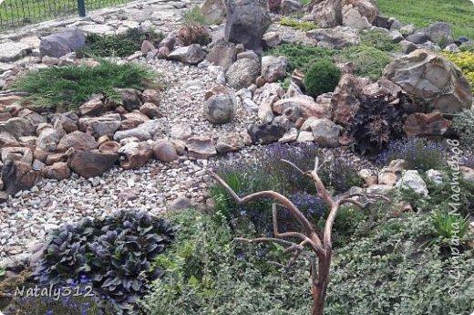 Чем же порадовать любимый сад? Почему бы не новыми малыми архитектурными формами?! Это пень - добрый дух нашего сада. фото 35