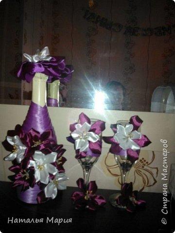 Сделала сестре на 40-летие, шампанское, 2 бокала и свеча с подсвечником! фото 2