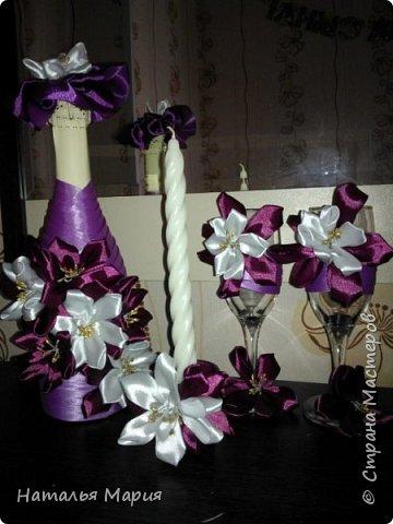 Сделала сестре на 40-летие, шампанское, 2 бокала и свеча с подсвечником! фото 1