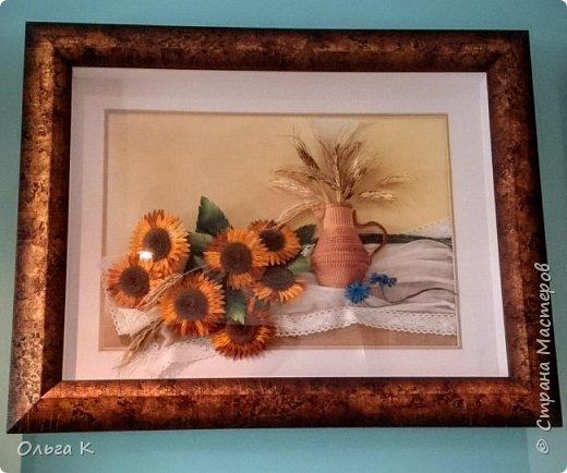 Здравствуйте,  дорогие соседи, друзья и все все все))) С большим удовольствием представляю вам свою новую работу натюрморт с подсолнухами и колосками.  фото 4