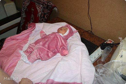 """Для своей первой дочурки сшила комплект на выписку """"розовый котёнок"""" фото 2"""