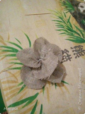 Вот такие цветы я решила сделать для аксессуаров на свадьбу рустик фото 11