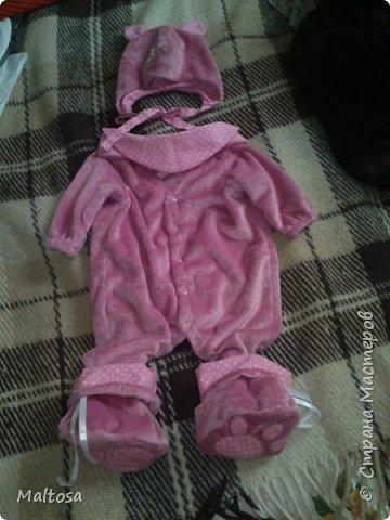 """Для своей первой дочурки сшила комплект на выписку """"розовый котёнок"""" фото 1"""