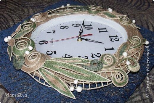 Вдохновясь чудесными работами Веры Пушиной и Jalilija http://stranamasterov.ru/user/402095, создалась у меня пара настенных часов. Эти - уже вторые, сделаны по просьбе коллеги. фото 3