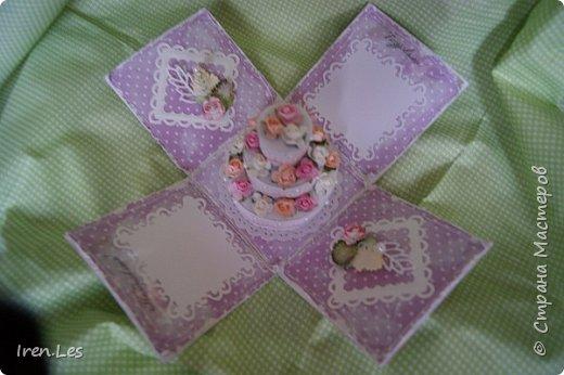 Здравствуйте, дорогие жители Страны. Заказали мне сделать коробочку для денежного подарка на юбилей, да еще чтоб внутри был тортик. Помучилась, помучилась я с изготовлением тортика и пошла на просторы инета за подмогой. Наткнулась вот на этот МК http://www.liveinternet.ru/users/5601102/post360566361/ , который мне очень помог. Спасибо автору. И дела сразу пошли в гору. Вот такая коробочка у меня получилась. фото 5