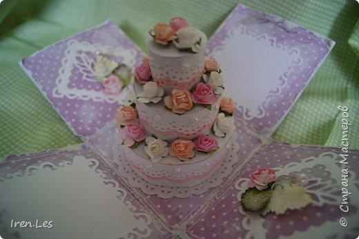 Здравствуйте, дорогие жители Страны. Заказали мне сделать коробочку для денежного подарка на юбилей, да еще чтоб внутри был тортик. Помучилась, помучилась я с изготовлением тортика и пошла на просторы инета за подмогой. Наткнулась вот на этот МК http://www.liveinternet.ru/users/5601102/post360566361/ , который мне очень помог. Спасибо автору. И дела сразу пошли в гору. Вот такая коробочка у меня получилась. фото 6