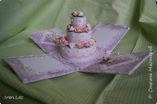 Здравствуйте, дорогие жители Страны. Заказали мне сделать коробочку для денежного подарка на юбилей, да еще чтоб внутри был тортик. Помучилась, помучилась я с изготовлением тортика и пошла на просторы инета за подмогой. Наткнулась вот на этот МК http://www.liveinternet.ru/users/5601102/post360566361/ , который мне очень помог. Спасибо автору. И дела сразу пошли в гору. Вот такая коробочка у меня получилась. фото 1