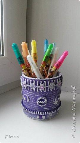 Всем доброго времени суток!!!У меня сплошные карандашницы!Сначала мама попросила одну для себя,а потом сплошным потоком пошли просьбы о таких же,но разных расцветок. фото 10