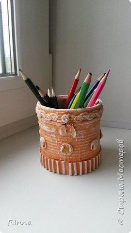 Всем доброго времени суток!!!У меня сплошные карандашницы!Сначала мама попросила одну для себя,а потом сплошным потоком пошли просьбы о таких же,но разных расцветок. фото 12