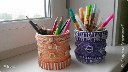 Всем доброго времени суток!!!У меня сплошные карандашницы!Сначала мама попросила одну для себя,а потом сплошным потоком пошли просьбы о таких же,но разных расцветок. фото 13