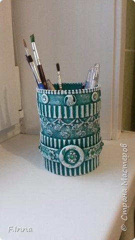 Всем доброго времени суток!!!У меня сплошные карандашницы!Сначала мама попросила одну для себя,а потом сплошным потоком пошли просьбы о таких же,но разных расцветок. фото 6