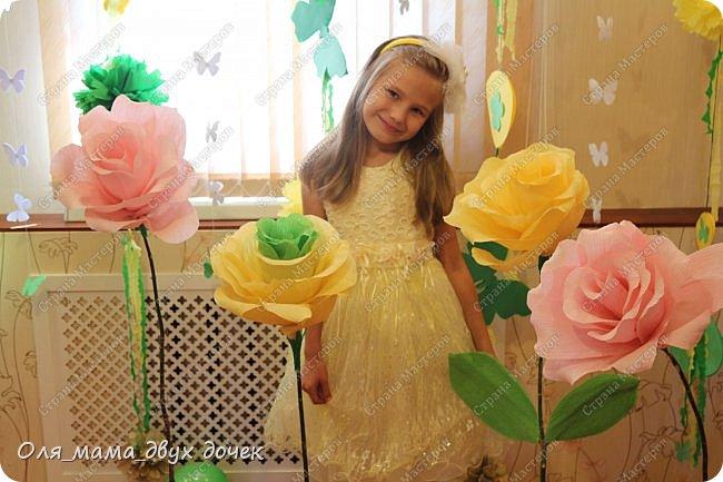 9 сентября мы отмечали День Рождения Лизы.Ей исполнилось 8 лет. Первые дни сентября нагоняли на Лизу тоску. В школу ей никак не хотелось,а хотелось продолжения лета и  тепла.И мы решили поднять Лизавете настроение!!!!! Два дня мы с Алиной вырезали,склеивали,сворачивали и вот что из этого получилось.Использовали Лизины любимые цвета- желтый и зеленый..Сделали гирлянду, объемную цифру восемь и бумажные цветы.  фото 9