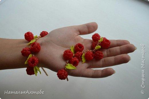 """Браслет """"Ягода-малинка""""  из силикона по МК Елены Мирсановой фото 1"""