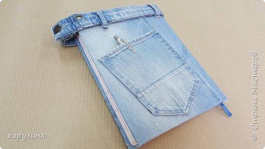 Джинсовая одежка для ежедневников фото 3