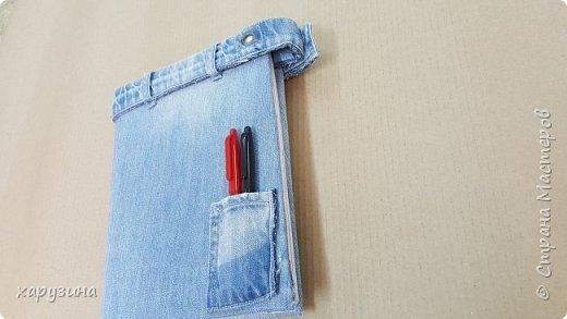 Джинсовая одежка для ежедневников фото 4