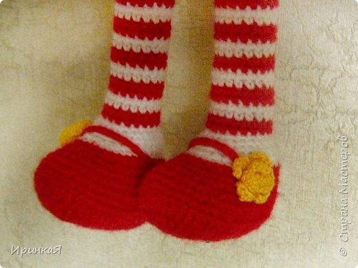 Связалась у меня модница Царевна-лягушка по МК Дианы Пацкун. Я влюбилась в нее с первого взгляда она мне ответила взаимностью и не капризничала весь процесс создания. Рост игрушки 37 см без короны) фото 4