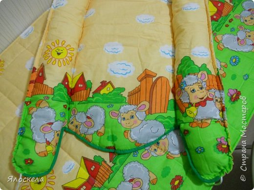 Всем добрый вечер!Сегодня я с подарком ко дню рождения нового Человечка! Гнездо-кокон, стеганное одеяльце из бязи и спящее Облачко фото 2