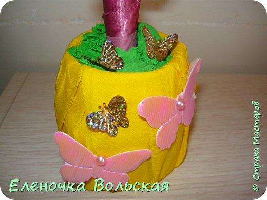 """Топиарий """"Я так хочу, чтобы лето не кончалось..."""" (летний с бабочками) фото 4"""