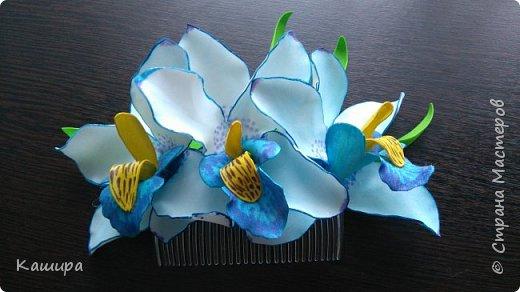 Гребень с орхидеями фото 1
