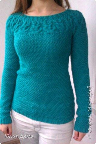 Вязанный мной свитер фото 2