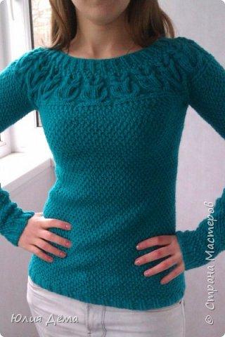 Вязанный мной свитер фото 1