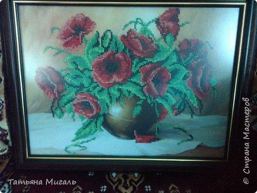 Бисерная картина:Лебединая верность фото 11