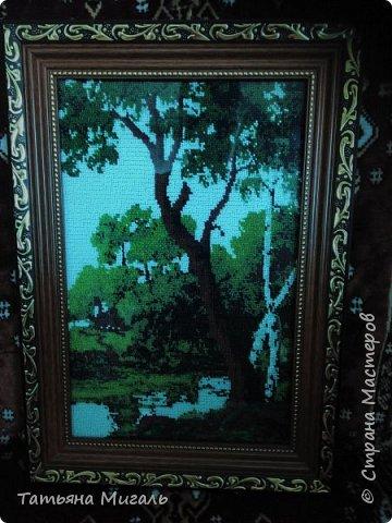 Бисерная картина:Лебединая верность фото 10