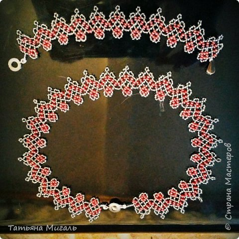 Набор:колье и браслет из бисера и бусин фото 11