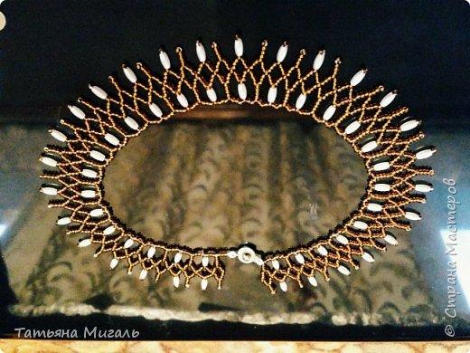 Набор:колье и браслет из бисера и бусин фото 4