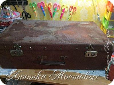 Старый чемодан-столик-лежанка) фото 2