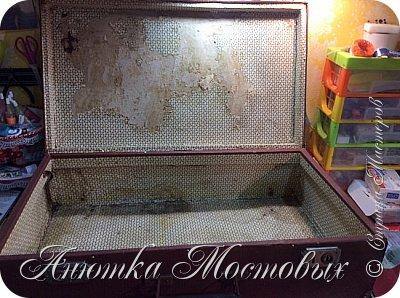 Старый чемодан-столик-лежанка) фото 3